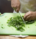 Vegetable cutting at celestino