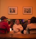Giacomino with guests at Il Buco
