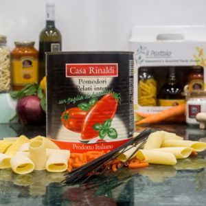 Imported CANNED WHOLE TOMATOES WITH BASIL